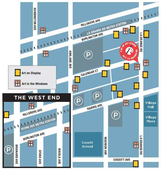 La Grange Art Stroll Map
